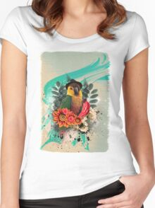Cool Parrot Women's Fitted Scoop T-Shirt