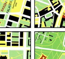 I am Warsaw map Sticker