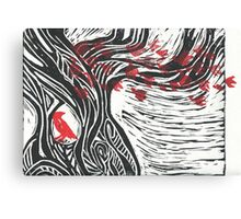 Wisdom of Trees - Red Raven Canvas Print