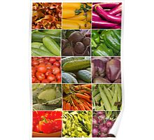 Fruit and Vegetable Collage Poster