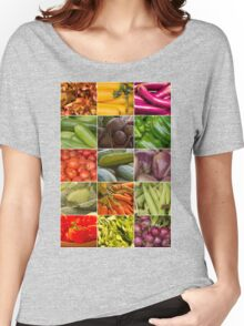 Fruit and Vegetable Collage Women's Relaxed Fit T-Shirt