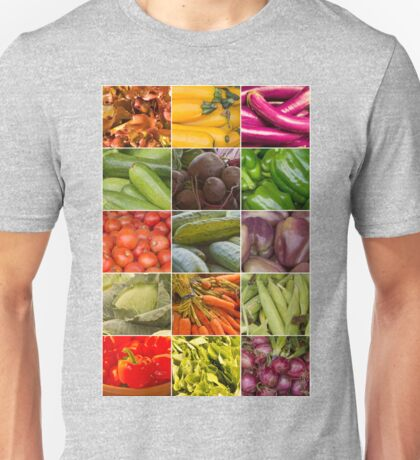 Fruit and Vegetable Collage Unisex T-Shirt