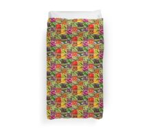Fruit and Vegetable Collage Duvet Cover
