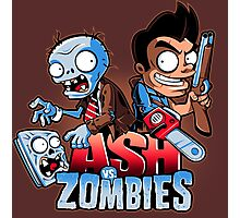 Ash vs Zombies Photographic Print