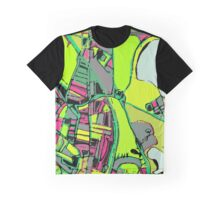 Abstract Map of UMASS Boston Graphic T-Shirt
