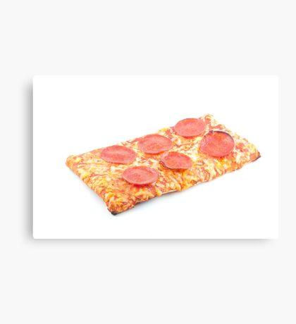Pepperoni School Pizza Canvas Print