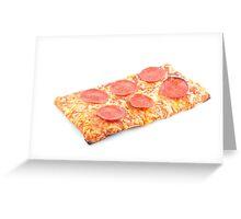 Pepperoni School Pizza Greeting Card