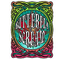 BUTTERFLY SCREAM 60'S STYLE Photographic Print