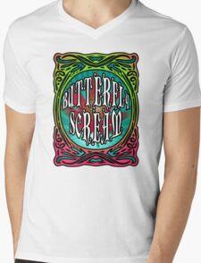 BUTTERFLY SCREAM 60'S STYLE Mens V-Neck T-Shirt