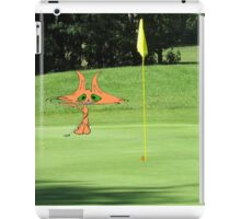 Cat Puts At The Golf Course iPad Case/Skin