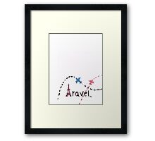 Eiffel Tower Travel with planes Framed Print