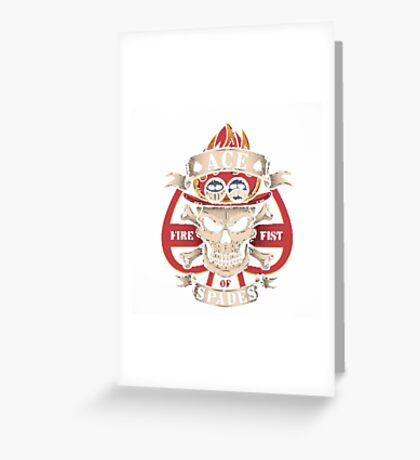 Ace One Piece Greeting Card