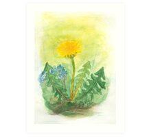 Dandelion In The Garden Art Print