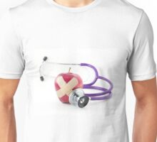 Red Apple Stethoscope Unisex T-Shirt