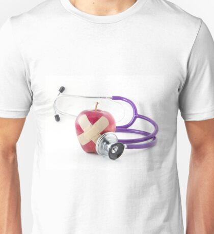 Red Apple Stethoscope Unisex T-Shirt
