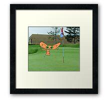 Cat Loves The Game Of Golf Framed Print