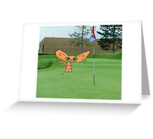 Cat Loves The Game Of Golf Greeting Card