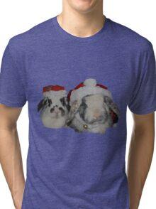Christmas Rabbits Tri-blend T-Shirt