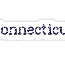 Connecticut Stripes Sticker