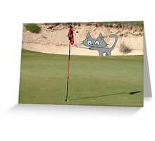 Golfing Kitty Greeting Card
