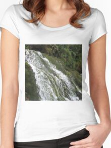 WATER OVERFLOW Women's Fitted Scoop T-Shirt