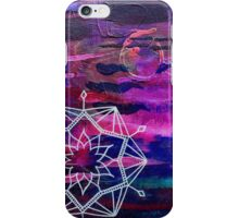 Magenta Abstract Mandala iPhone Case/Skin