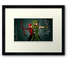 Green Arrow and Speedy ARROW Framed Print