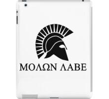 Molon lave - Spartan warrior iPad Case/Skin