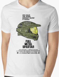 Full Metal Spartan Mens V-Neck T-Shirt