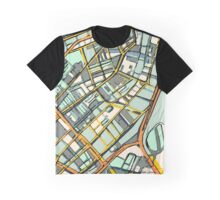 Abstract Map of Boston South End Graphic T-Shirt