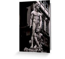 STATUE OF HERCULES AND CACO OF BACCIO BANDINELLI, PIAZZA DELLA SIGNORIA IN FLORENCE, ITALY Greeting Card