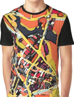 Abstract Map of Somerville Graphic T-Shirt