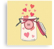 A Jar full of Love Canvas Print
