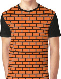 Super Mario Brick Pattern Graphic T-Shirt