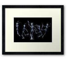 Dancing Skeletons X ray Framed Print