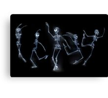 Dancing Skeletons X ray Canvas Print