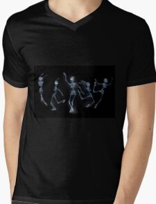 Dancing Skeletons X ray Mens V-Neck T-Shirt