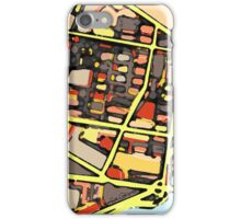 Abstract Map of East Cambridge iPhone Case/Skin