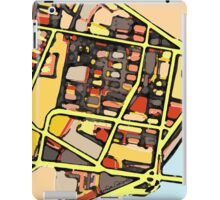 Abstract Map of East Cambridge iPad Case/Skin