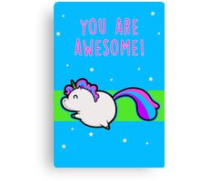 Unicorn of Awesome Canvas Print