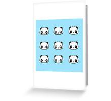 Panda Moods Greeting Card