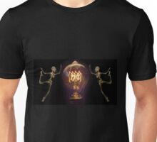 Skeletons Lightbulb Unisex T-Shirt