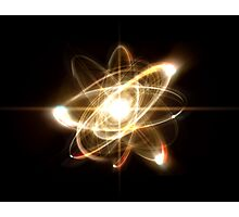Atom Particle Photographic Print