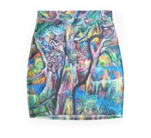 Music of Rainforest Before Dark Mini Skirt