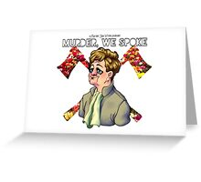 Murder, We Spoke Logo (01) Greeting Card