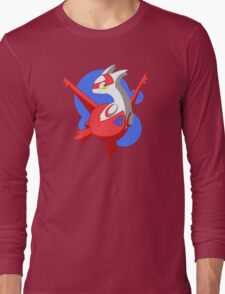 Pokemon - Latias w/ background Long Sleeve T-Shirt
