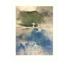 Smudges in Oil Pastel Art Print