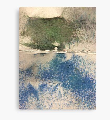 Smudges in Oil Pastel Canvas Print
