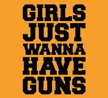 Girls Have Guns Gym Quote Womens Fitted T-Shirt