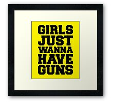 Girls Have Guns Gym Quote Framed Print